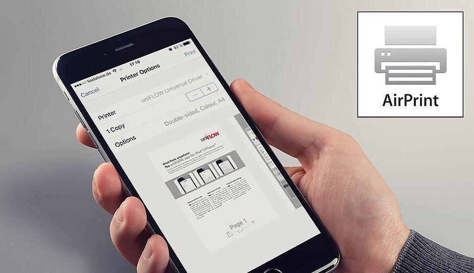 apple airprint, uniflow, mobilní tisk