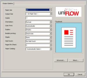 univerzální ovladač, uniflow universal driver