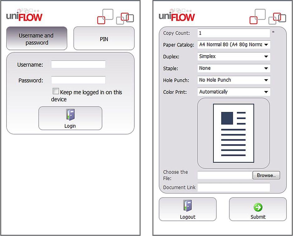 uniflow, uniflow smb, správa tisku, tiskové řešení